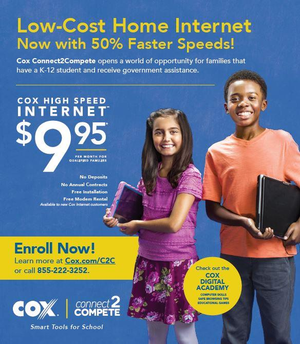 Cox Flier for Low-Cost Internet Access
