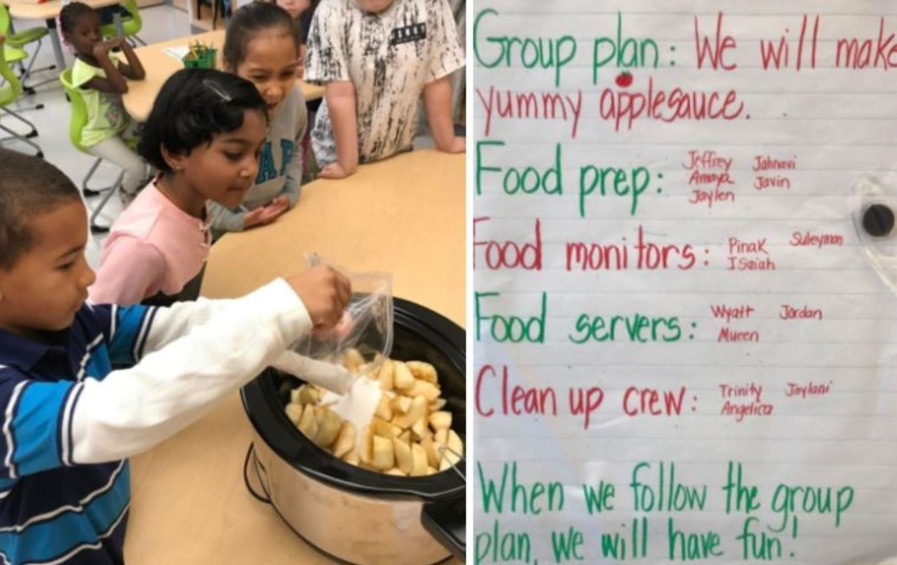 Waddell Students Making Apple Sauce